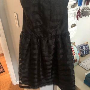 black skater dress from Nordstrom junior